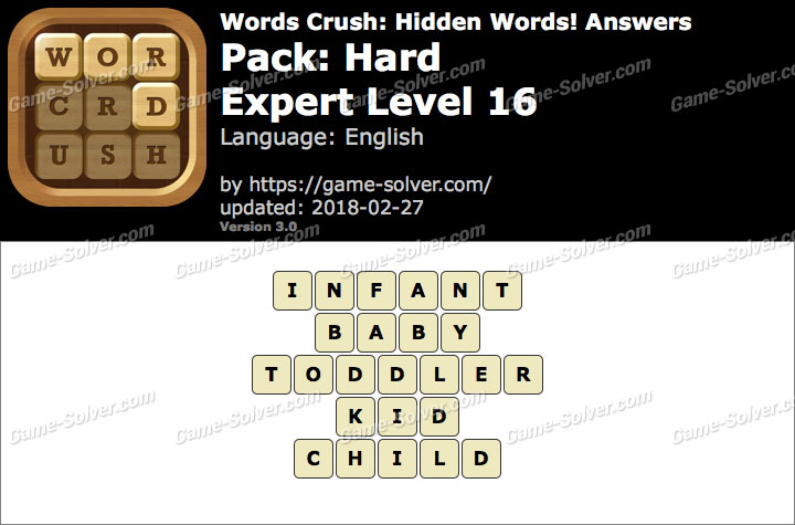 Words Crush Hard-Expert Level 16 Answers