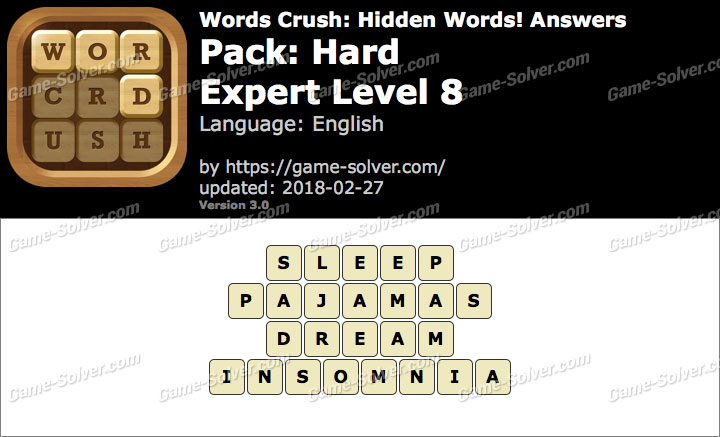 Words Crush Hard-Expert Level 8 Answers