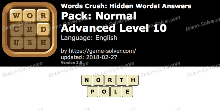 Words Crush Normal-Advanced Level 10 Answers