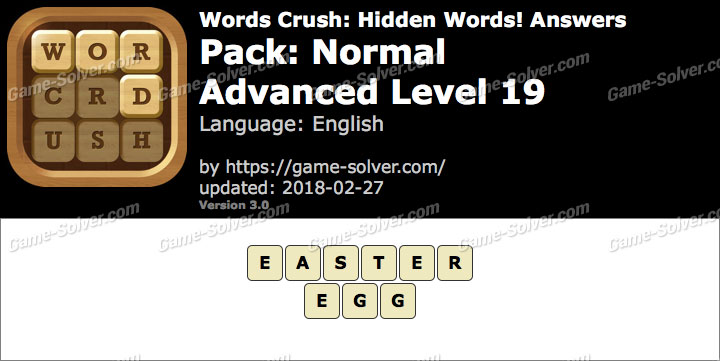 Words Crush Normal-Advanced Level 19 Answers