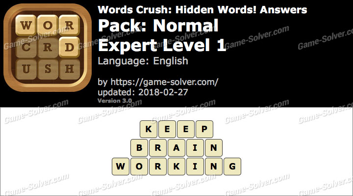 Words Crush Normal-Expert Level 1 Answers