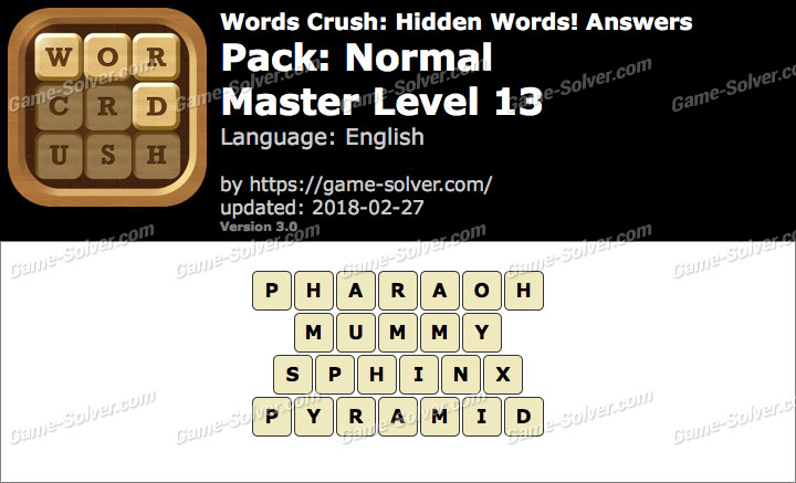 Words Crush Normal-Master Level 13 Answers