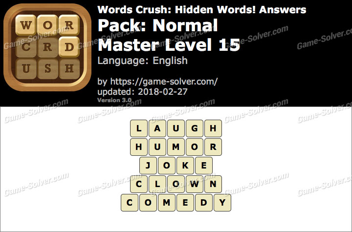 Words Crush Normal-Master Level 15 Answers