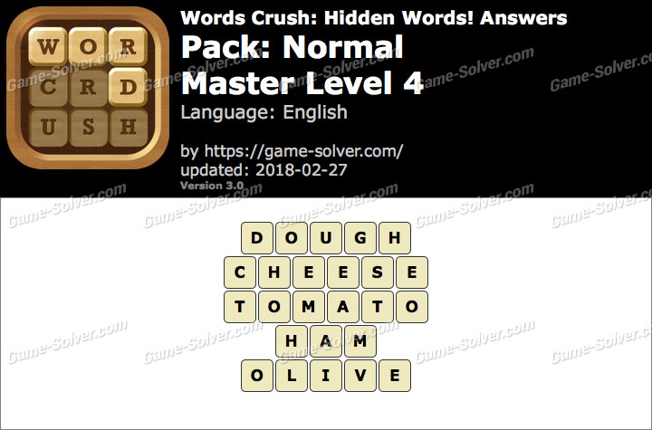Words Crush Normal-Master Level 4 Answers