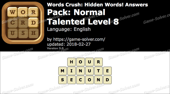 Words Crush Normal-Talented Level 8 Answers