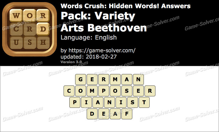 Words Crush Variety-Arts Beethoven Answers