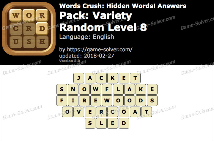 Words Crush Variety-Random Level 8 Answers