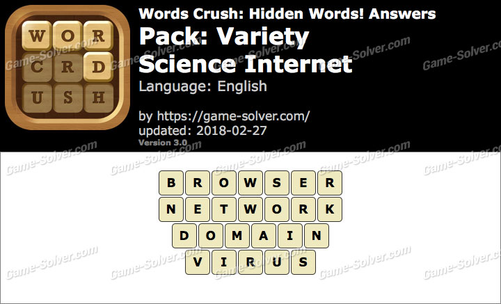 Words Crush Variety-Science Internet Answers