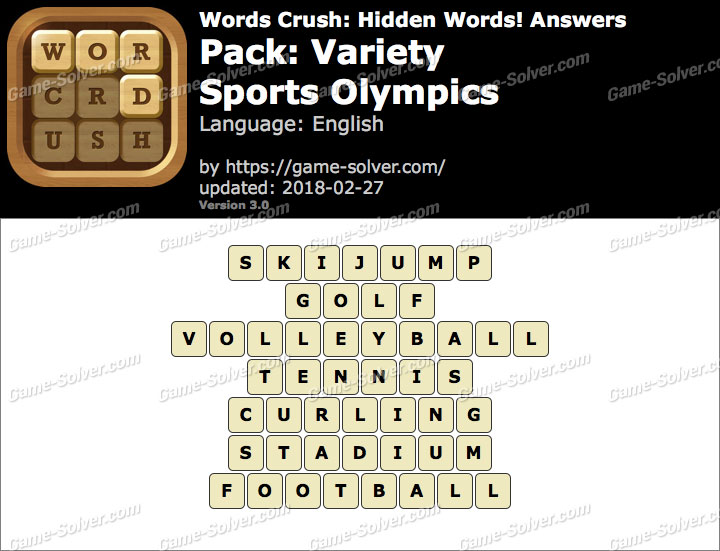 Words Crush Variety-Sports Olympics Answers