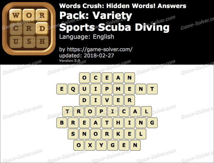 Words Crush Variety-Sports Scuba Diving Answers