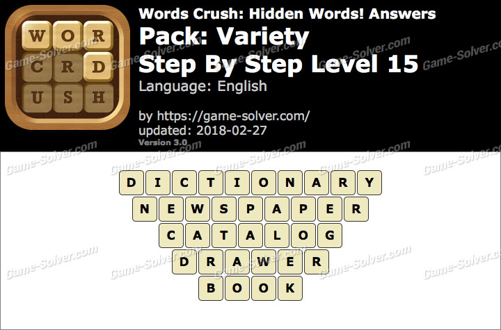 Words Crush Variety-Step By Step Level 15 Answers