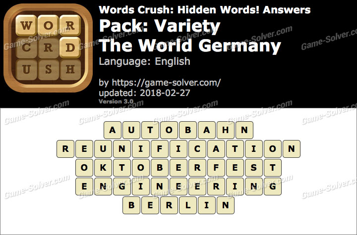 Words Crush Variety-The World Germany Answers