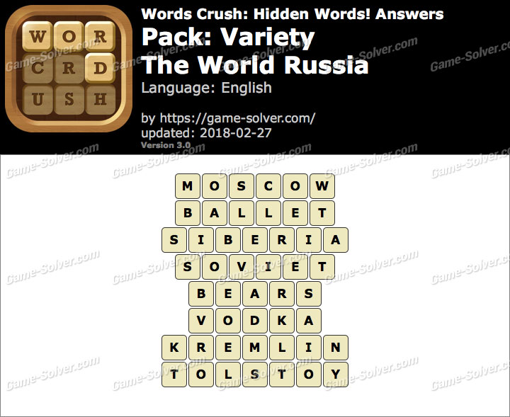 Words Crush Variety-The World Russia Answers