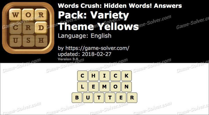 Words Crush Variety-Theme Yellows Answers