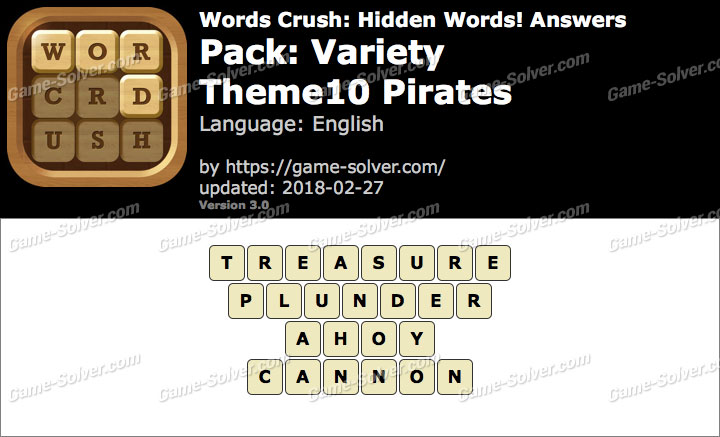 Words Crush Variety-Theme10 Pirates Answers