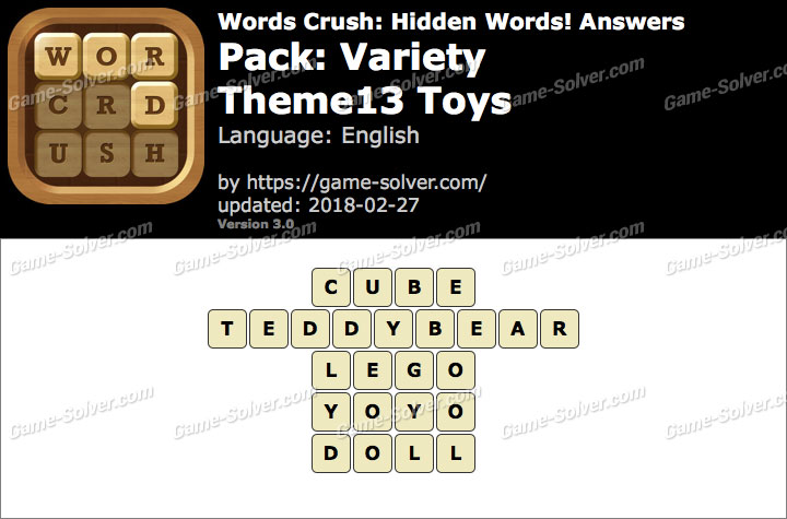 Words Crush Variety-Theme13 Toys Answers