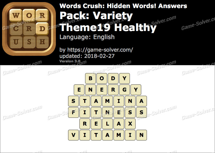 Words Crush Variety-Theme19 Healthy Answers