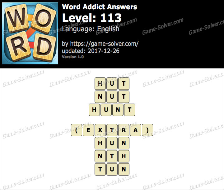 Word Addict Level 113 Answers