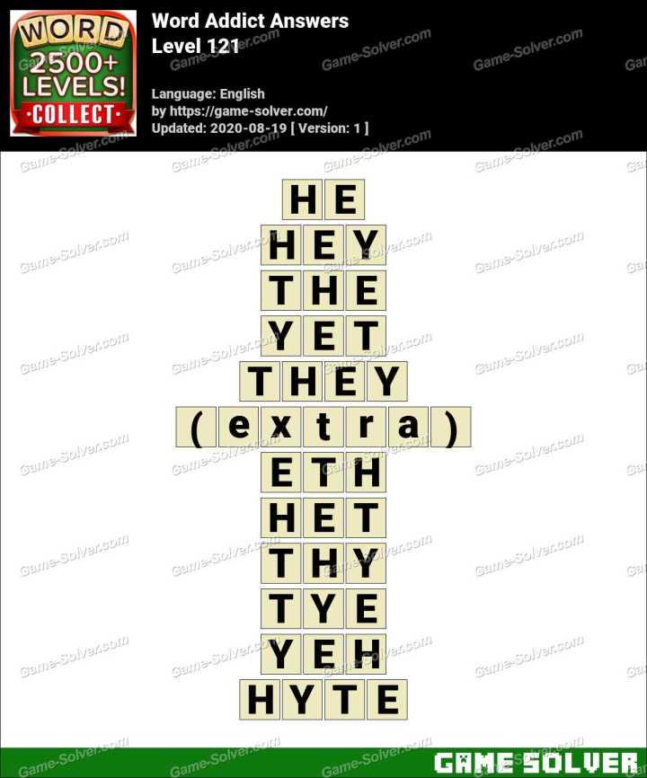 Word Addict Level 121 Answers