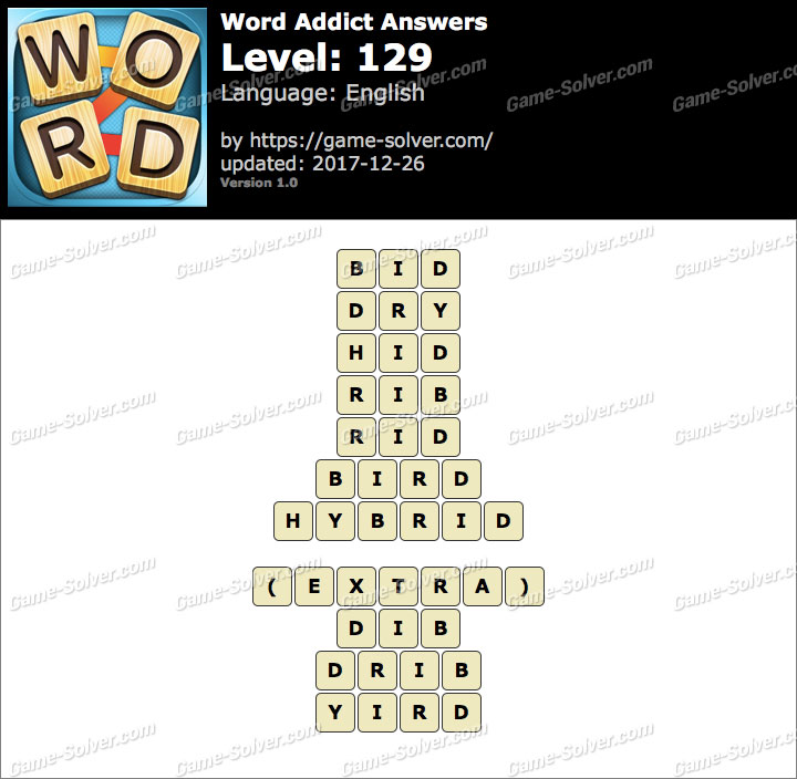 Word Addict Level 129 Answers