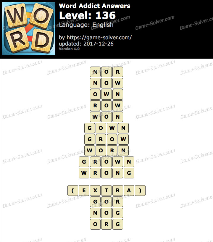 Word Addict Level 136 Answers