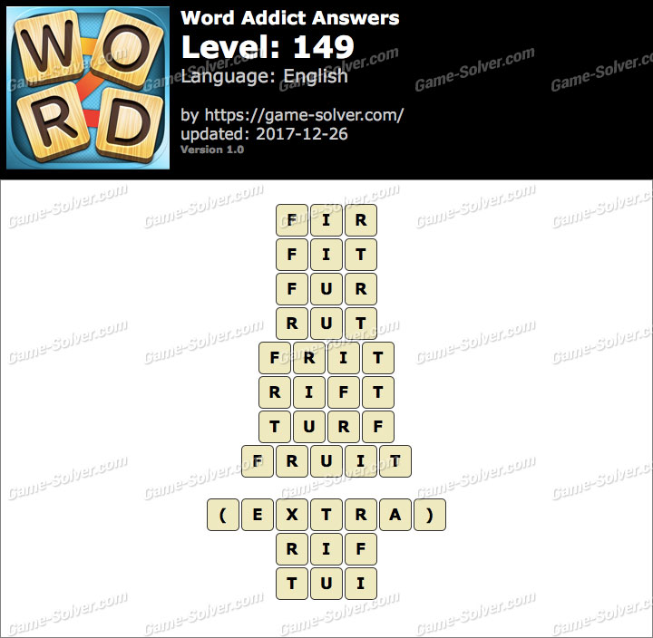 Word Addict Level 149 Answers
