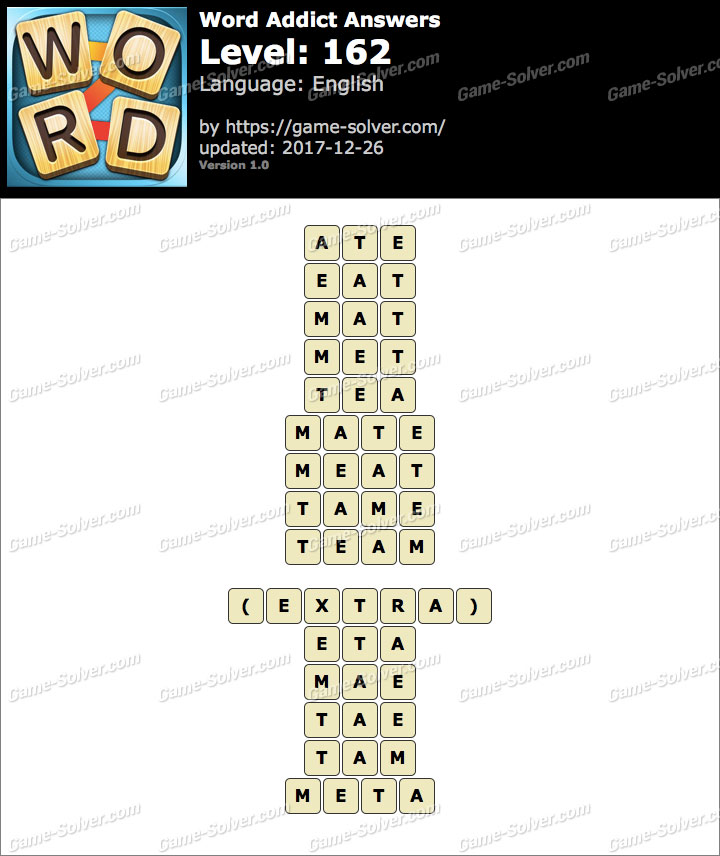 Word Addict Level 162 Answers