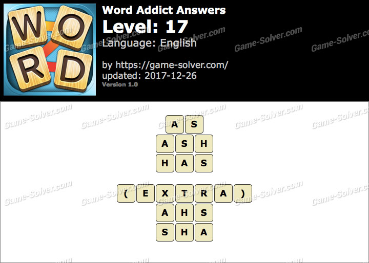 Word Addict Level 17 Answers