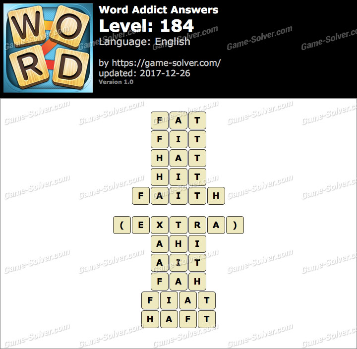 Word Addict Level 184 Answers