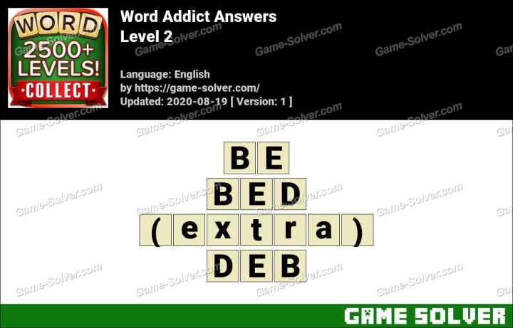 Word Addict Level 2 Answers