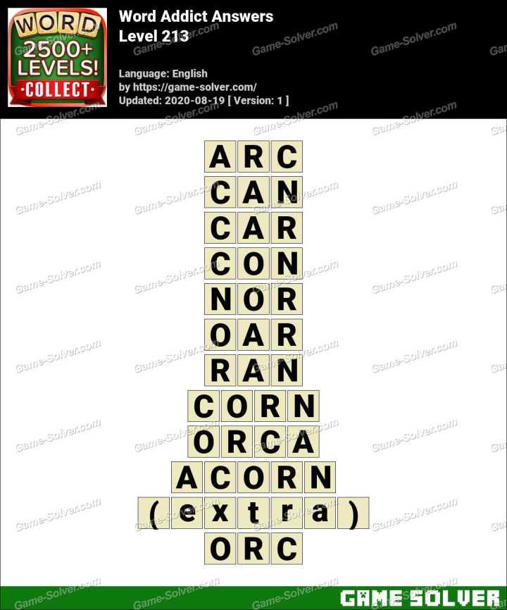 Word Addict Level 213 Answers
