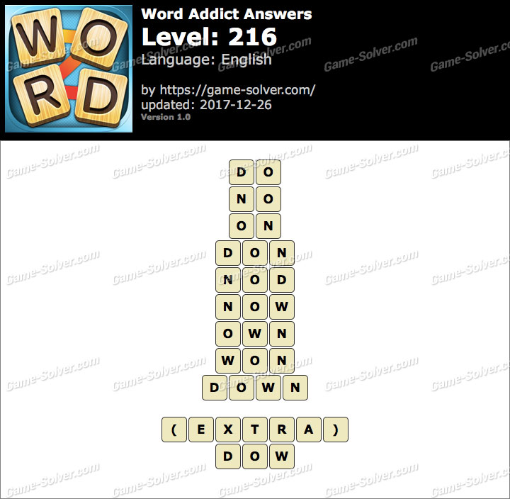 Word Addict Level 216 Answers