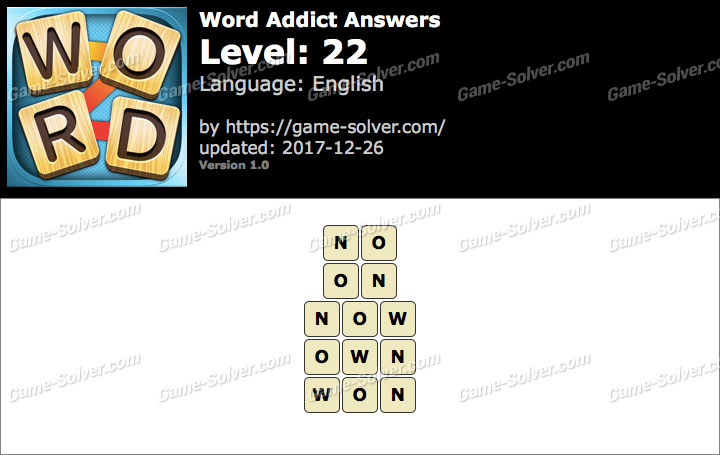 Word Addict Level 22 Answers