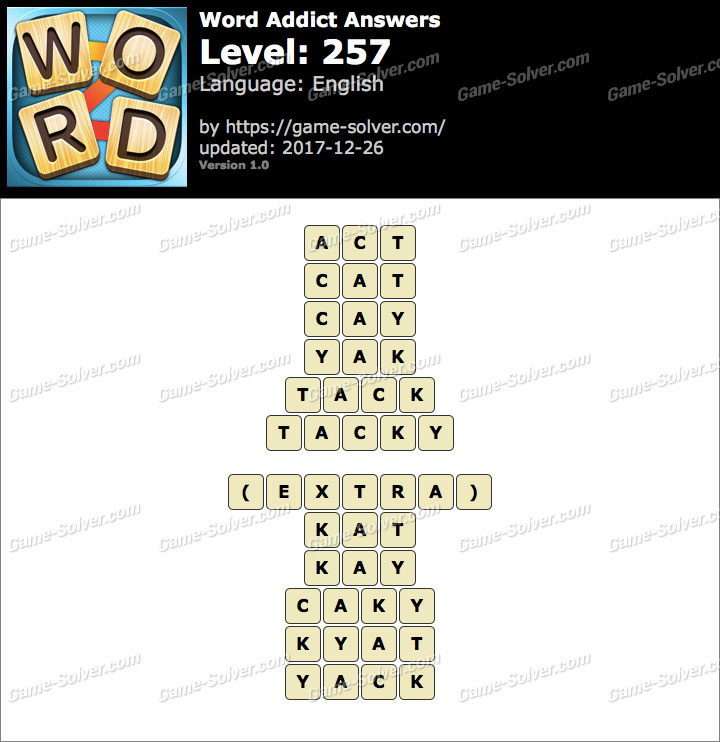 Word Addict Level 257 Answers