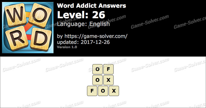 Word Addict Level 26 Answers