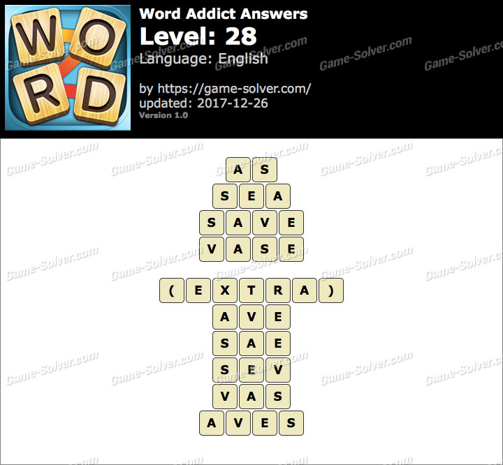 Word Addict Level 28 Answers