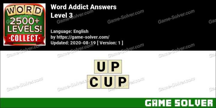 Word Addict Level 3 Answers