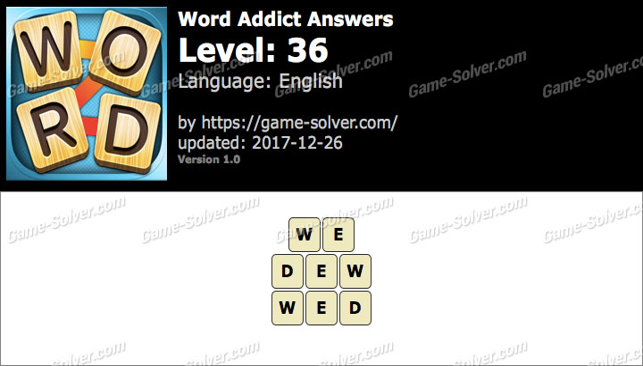 Word Addict Level 36 Answers