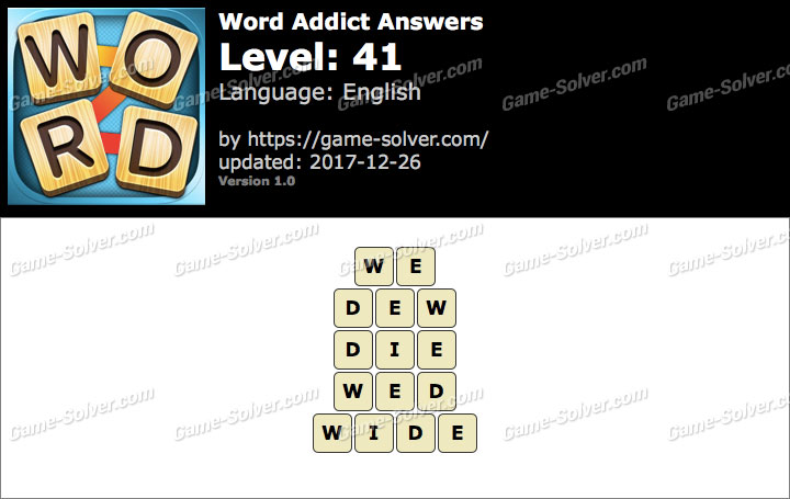 Word Addict Level 41 Answers