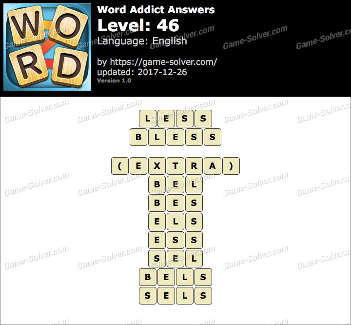 Word Addict Level 46 Answers