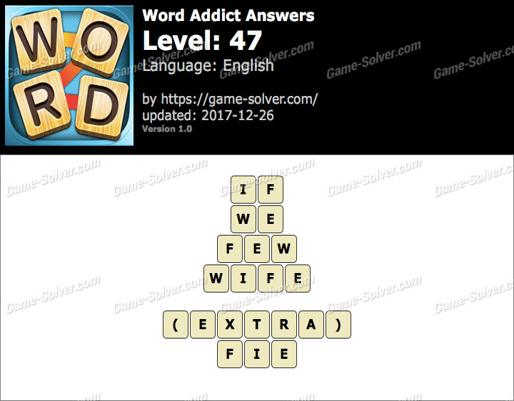 Word Addict Level 47 Answers