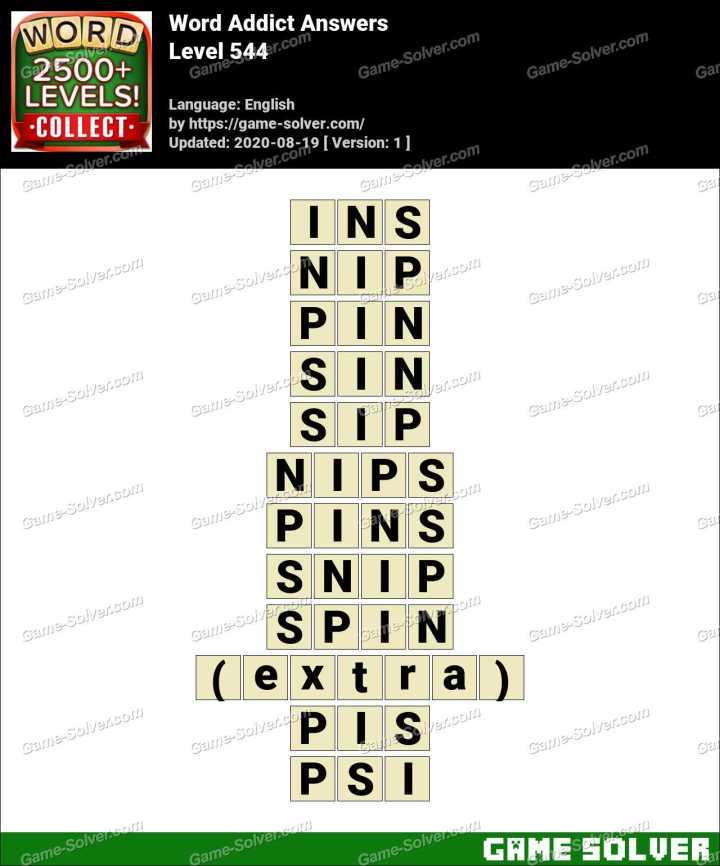 Word Addict Level 544 Answers