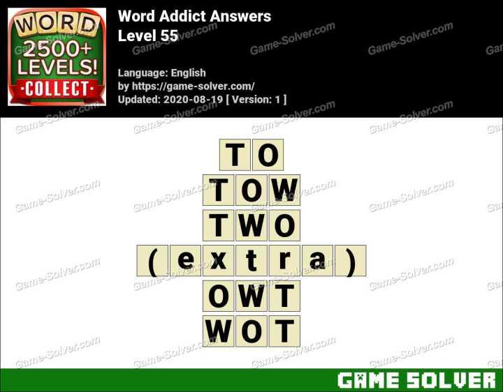 Word Addict Level 55 Answers