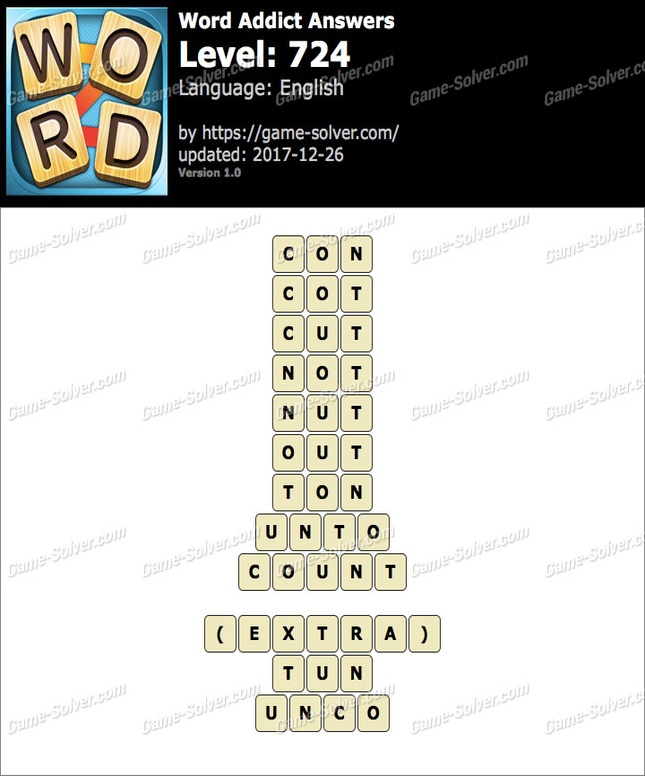 Word Addict Level 724 Answers