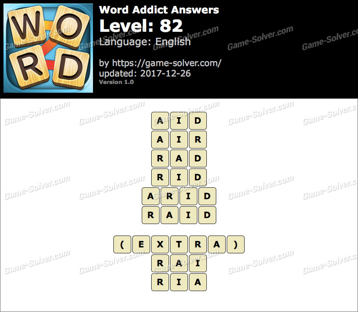 Word Addict Level 82 Answers
