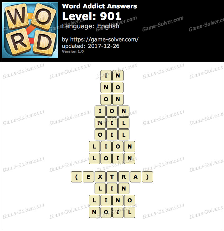 Word Addict Level 901 Answers