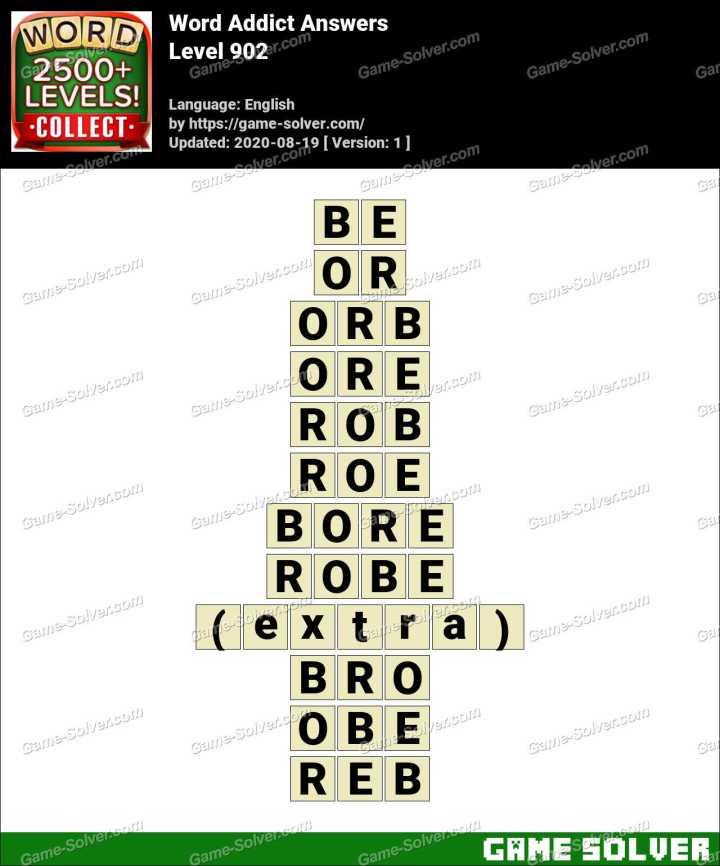 Word Addict Level 902 Answers