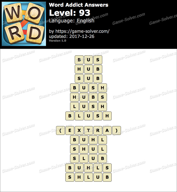 Word Addict Level 93 Answers