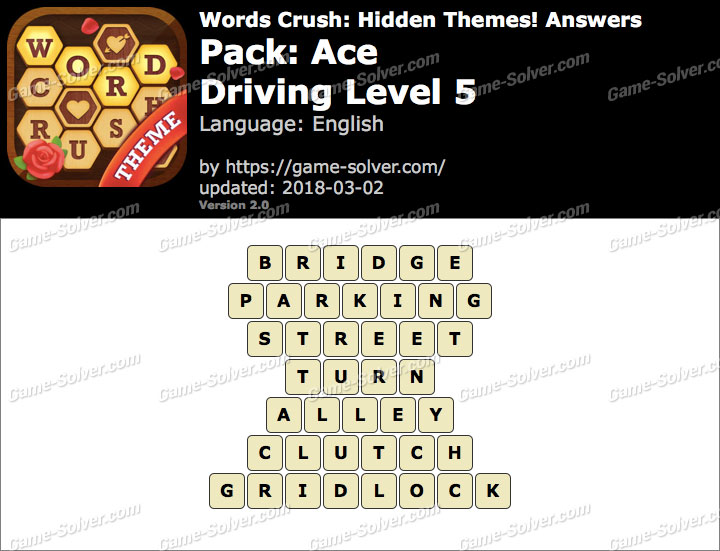 Words Crush Ace-Driving Level 5 Answers