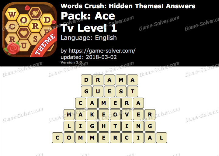 Words Crush Ace-Tv Level 1 Answers